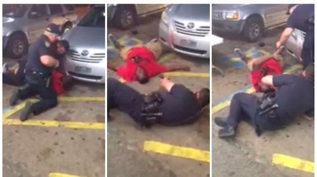 negro desarmado policía