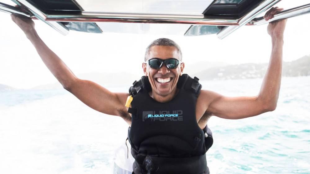 Obama risas y vacaciones